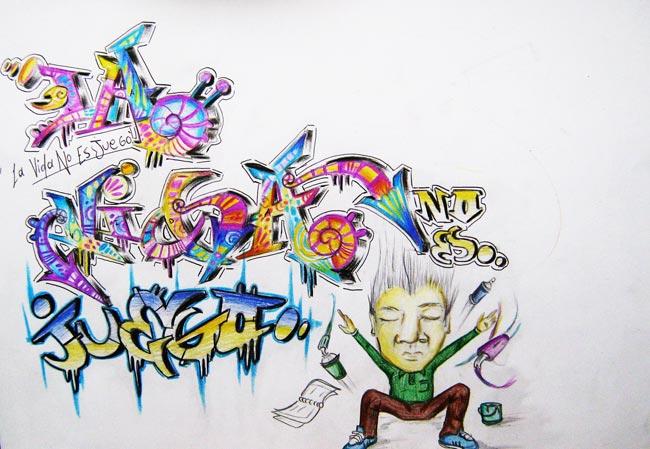Imagenes de grafitis de feliz cumpleaños - Imagui